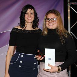Jodie Marshall presenting Superkids Award